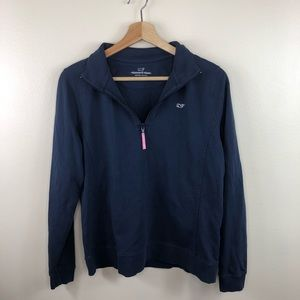 Womens vineyard vines navy quarter zip size medium